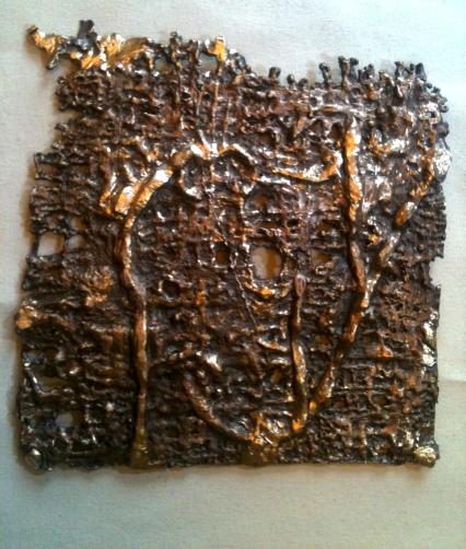 Bronze, Paper 24 x 24 x 0.1 cms each 2015